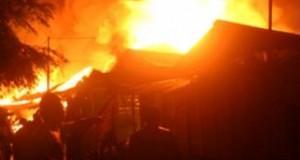 Hubungan Arus Pendek, Satu Unit Rumah Di Longat Ludes Terbakar