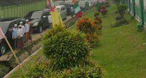 Hari Santri Nasional Jalan Raya Purba Baru  Sempat Mecet Total