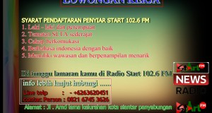 LOWONGAN KERJA PENYIAR START 102.6 FM