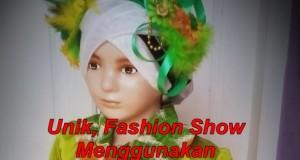 Unik, Fashion Show  Menggunakan  Daun-daunan