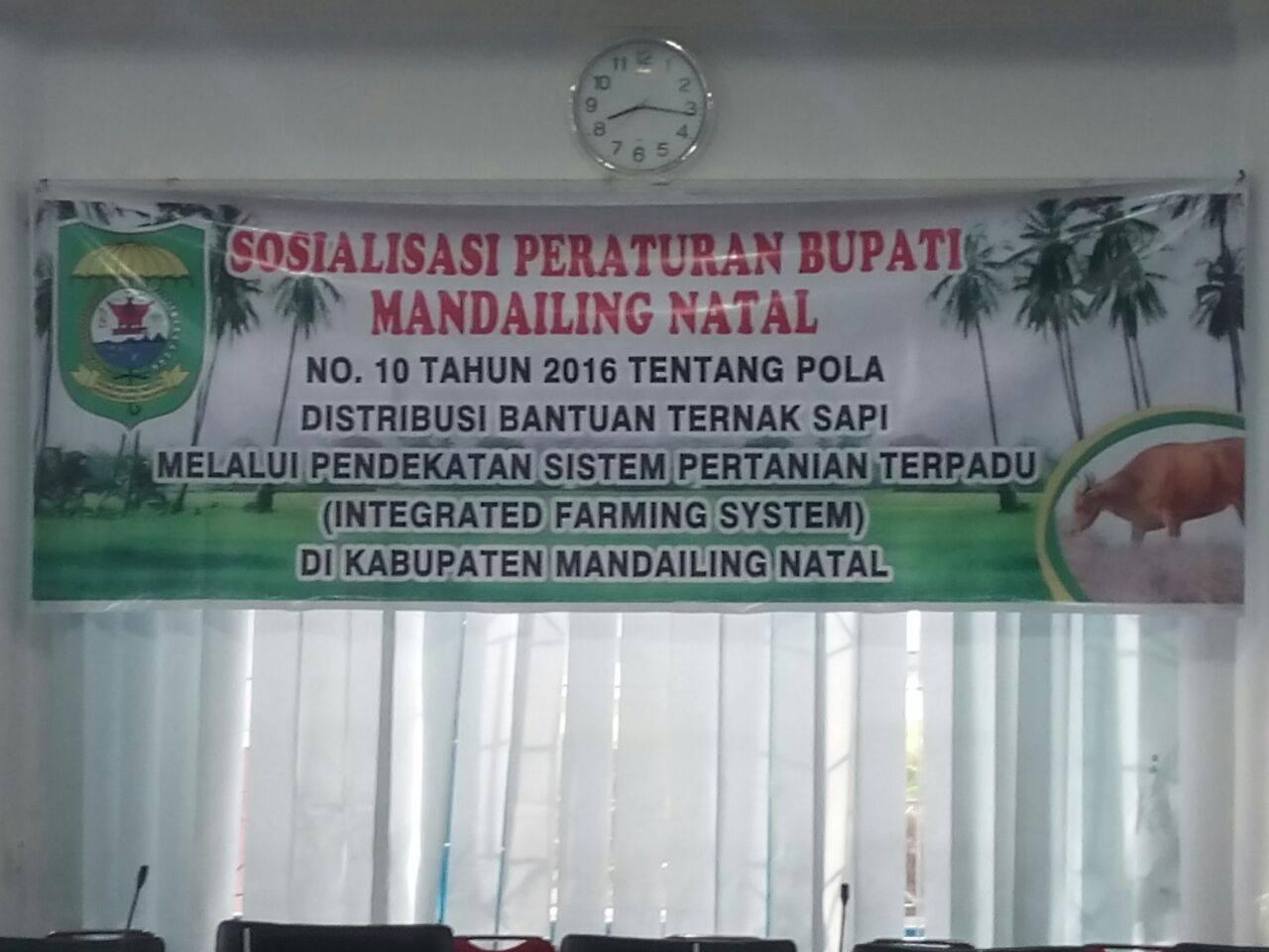 Dinas Pertanian Madina adakan Sosialisasi Peraturan Bupati No.10 Tahun 2016