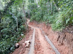 Pembangunan jalan rabat beton dari dana desa