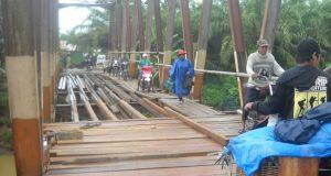Jembatan Batang Bangko Mulai Diperbaiki