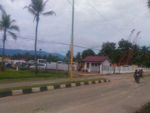 Inilah basecamp milik Perusahaan Panas Bumi Sorik Marapi Geotermal Power yang berada di Desa Aek Galoga Panyabungan.