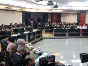 Foto: video conference di Mabes Polri (Idham)