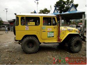 Salah satu mobil yang akan ikut kegiatan Adventure Jelajah Alam Bumi Gordang Sambilan di Madina.