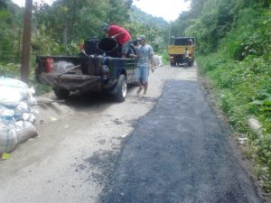Jalan Provinsi Muara Pungkut - Simpang Banyak baru selesai dilaksanakan.