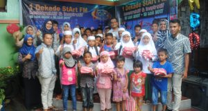 Santunan Anak Yatim dalam Rangka HUT 10 Tahun StArt FM