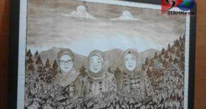 Lukisan Seniman Desa Pagur Dipesan Pejabat Provinsi