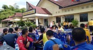 Jalin Silaturahmi  Polres Madina Olahraga Bersama Wartawan dan OKP
