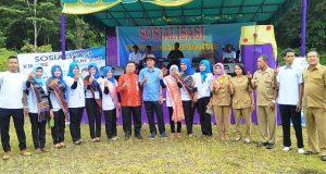 Marwan Dasopang Hadiri Sosialisasi KIE Kreatif di Ulu Pungkut