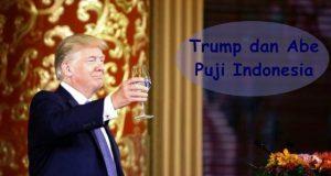 Trump dan Abe Puji Indonesia