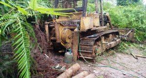 Polsek Linggabayu Tangkap Pencincang Alat Berat di Desa Muara Bangko