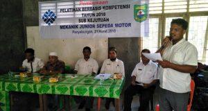 Dinas Tenaga Kerja Madina Buka Pelatihan Mekanik Junior Sepeda Motor