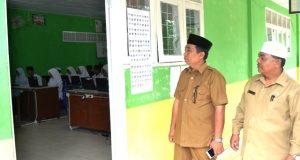 Kakan Kemenag Madina Monitoring Pelaksanaan UNBK MTs