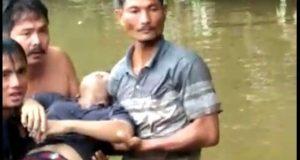 Korban Diterkam Buaya Ditemukan di Sungai Batang Gadis Dalam Keadaan Tidak Bernyawa