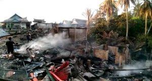 Di Sinunukan, 19 Rumah Penduduk dan Pasar Ludes Terbakar
