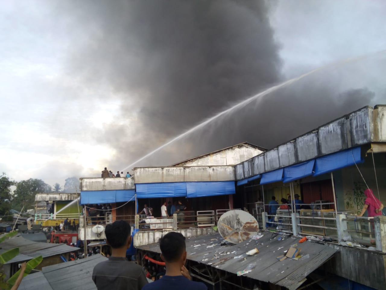 Polisi Belum Bisa Pastikan Penyebab Kebakaran Kios Pasar Baru Panyabungan
