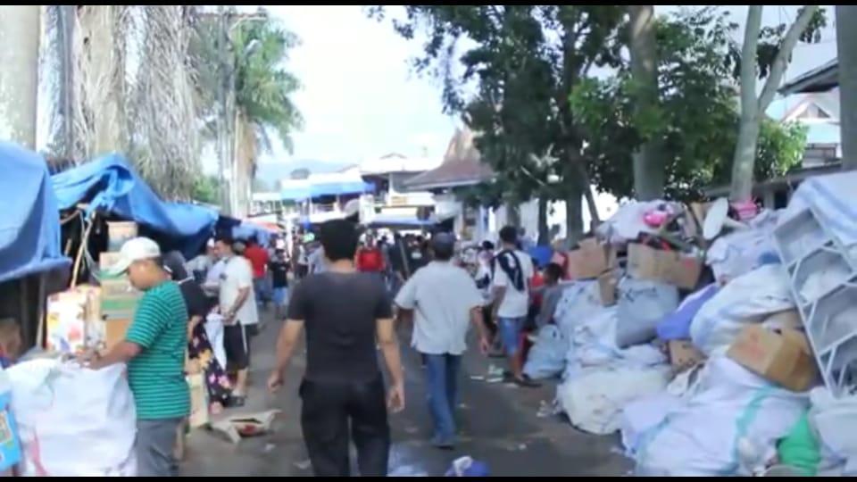 Pasca Kebakaran Pasar Baru Kini Menjadi Tontonan Ribuan Warga Madina