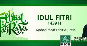 Ketua PKB Mandailing Natal: Selamat Idul Fitri 1439 H
