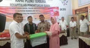 Gerindra Pertama Mendaftar ke KPU Madina