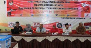 Hanya 15 Parpol yang Mendaftarkan Bacaleg ke KPU Madina
