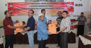 KPU Madina Menyampaikan Hasil Verifikasi Berkas Bacaleg