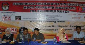 KPU Madina Umumkan DCS Legislatif