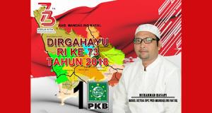 Muhammad Hanapi Lubis: Dirgahayu RI ke 73