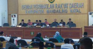 Bupati Madina Sampaikan Nota Pengantar Rancangan P-APBD 2018