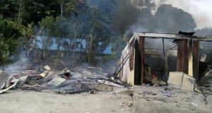 Rumah dan  Ruko Ludes Terbakar di Ulu Pungkut