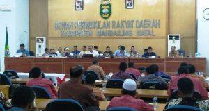 Tujuh Fraksi Sampaikan Pandangan Umum terhadap R-APBD 2019 Madina