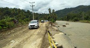 Perbaikan Jalan Nasional Saba Pasir Terus Dilakukan