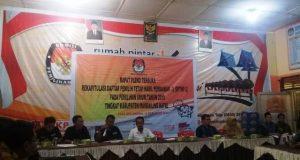 KPU Madina Gelar Rapat Pleno DPTHP Ke 2