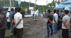 Polsek Kotanopan Latih Linmas Pengamanan Pemilu