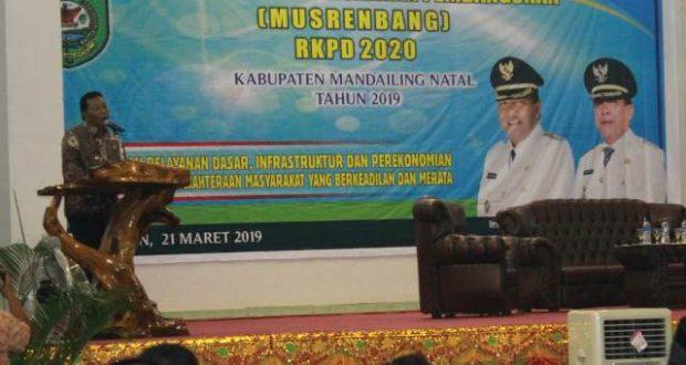 Bupati Madina Buka Musrenbang dan RKPD Tahun 2020