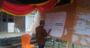 Pemungutan Suara Ulang di TPS 014 Mompang, 43 % Parsitipasi Pemilihnya