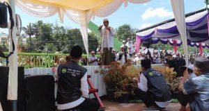 Ustadz Abdul Somad Ceramah di Acara Isra' Mi'raj Yang di Gelar Pesantren Mustafawiyah Purba Baru