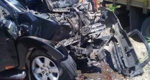 Mobil Fortuner Tabrakan Dengan Truk Coltdiesel Di Saba Purba
