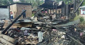 Kebakaran di Kotanopan Hanguskan Rumah dan Warung Kopi