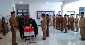 Wakil Bupati  H.M. Jakfar Sukhairi Lantik 40 Pejabat Eselon III dan IV di Lingkungan Pemkab Madina