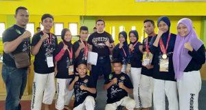 Kejurda Tarung Derajat Pelajar Sumut, Atlet Madina Raih 3 Medali Emas