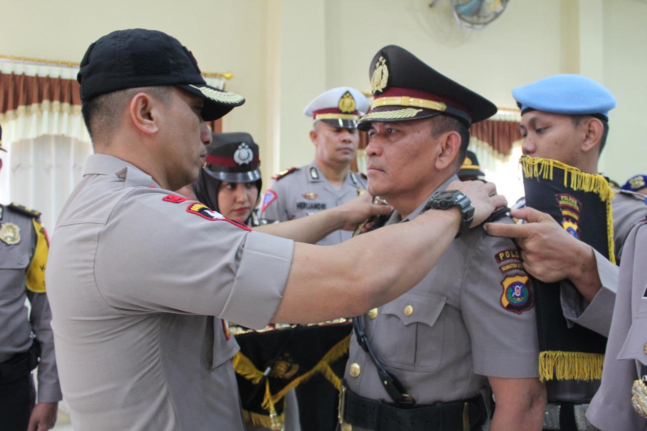 Wakapolres Madina dan Sejumlah Perwira Sertijab