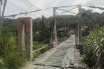 Titi Gantung Menuju 5 Desa di Kotanopan  Memprihatinkan