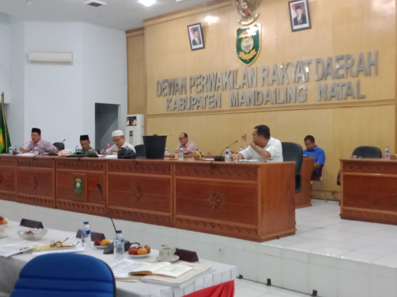 Ada Ember di Meja Rapat Banggar DPRD Madina