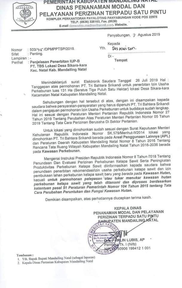 Kisruh Hutan Mangrove, PT TBS Punya Legalitas