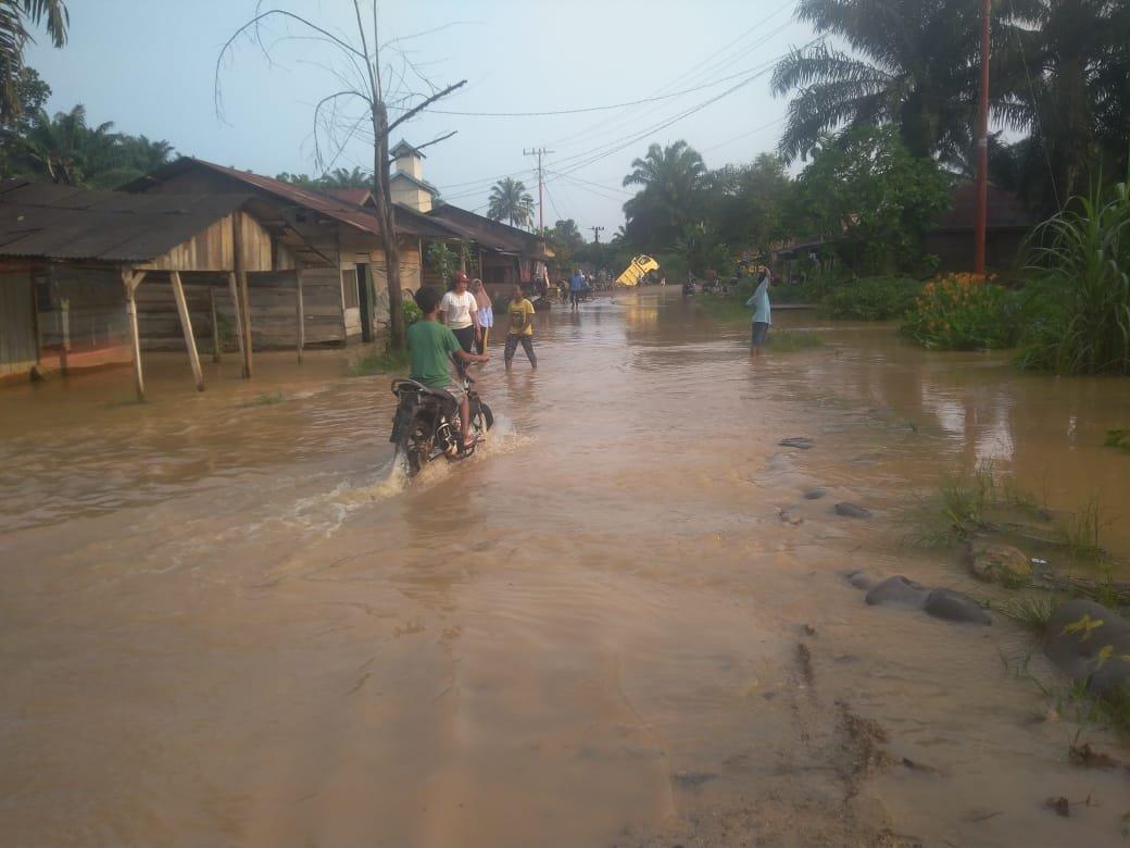 Curah Hujan Tinggi, Sejumlah Rumah Warga di Dua Kecamatan di Madina Terendam Banjir