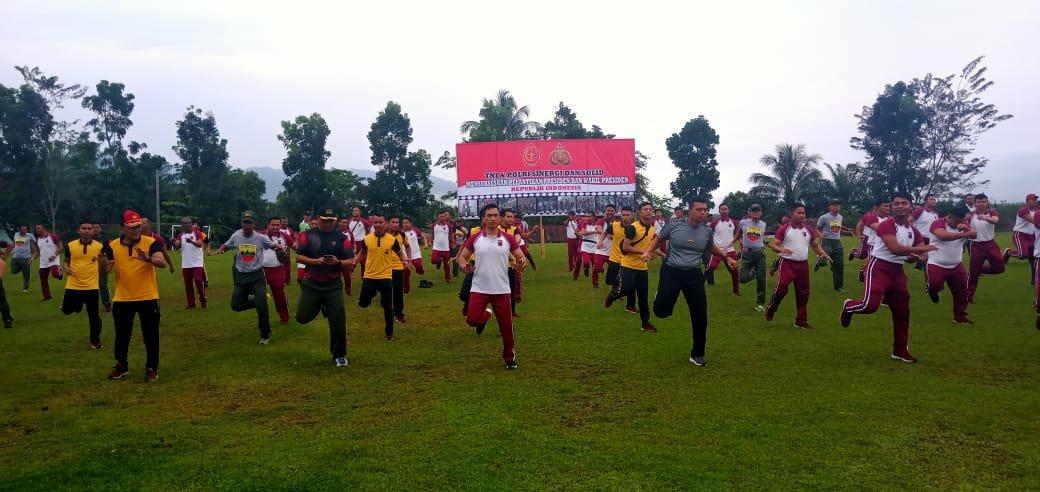 Jelang Pelantikan Presiden Jokowi Dodo, Polres Madina Adakan Olahraga Bersama