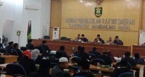 DPRD Madina Paripurnakan Alat Kelengkapan Dewan