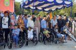 Hari Pahlawan, Pemkab Madina Berikan Bingkisan kepada Janda Veteran dan Bantuan Penyandang Disabilitas